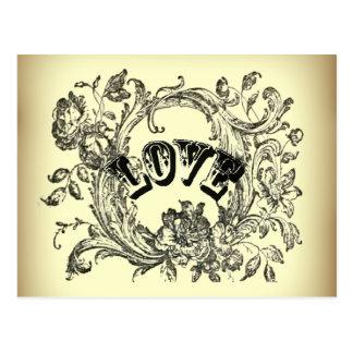 Beige Vintage Love Victorian Style Postcard