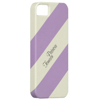 Beige & Violet Colour Combination. Custom Name SE iPhone 5 Cover