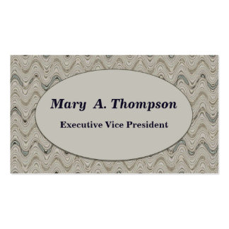 Beige wavy lines Double-Sided standard business cards (Pack of 100)