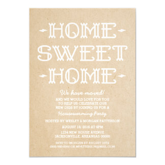 Beige Whimsical Sweet Home Housewarming Party 13 Cm X 18 Cm Invitation Card