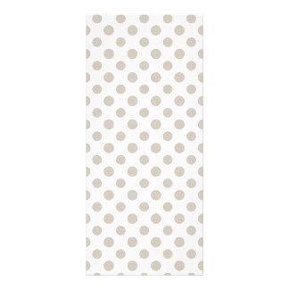 Beige White Polka Dots Pattern 10 Cm X 23 Cm Rack Card