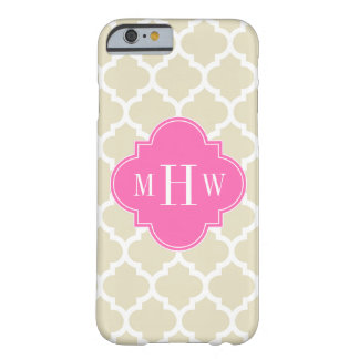 Beige, Wt Moroccan #5 Hot Pink2 3 Initial Monogram Barely There iPhone 6 Case