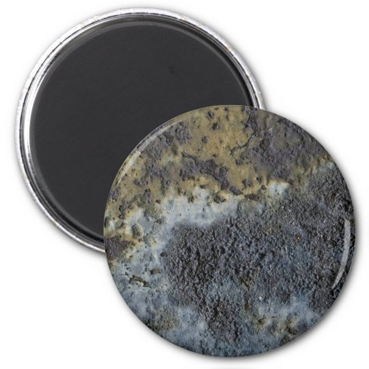 Beige, Yellow And Grey Texture 6 Cm Round Magnet