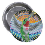 "Beija Flor (""Flower Kisser"") Hummingbird Painting 7.5 Cm Round Badge"
