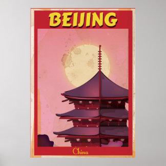 Beijing China vintage travel poster