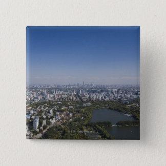 Beijing Cityscape 15 Cm Square Badge