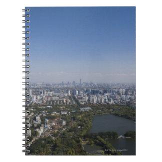 Beijing Cityscape Spiral Notebook