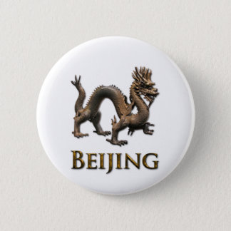 BEIJING Dragon 6 Cm Round Badge