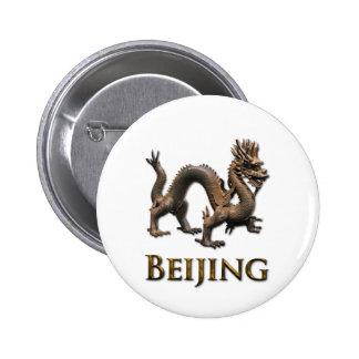 BEIJING Dragon 6 Cm Round Badge