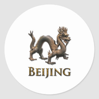 BEIJING Dragon Classic Round Sticker
