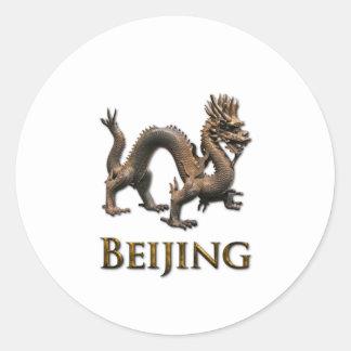 BEIJING Dragon Round Sticker
