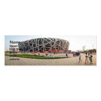 Beijing National Olympic Stadium Pack Of Skinny Business Cards