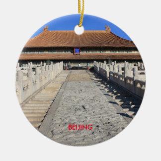 Beijing Scenic Christmas Circle Ornament