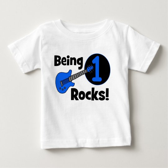 Being 1 Rocks! Personalised Baby's 1st Birthday Baby T-Shirt