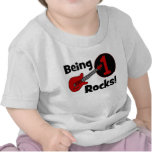 Being 1 Rocks! Personalised Baby's 1st Birthday T-shirts