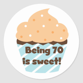 Being 70 is Sweet Birthday T-shirts and Gifts Stickers