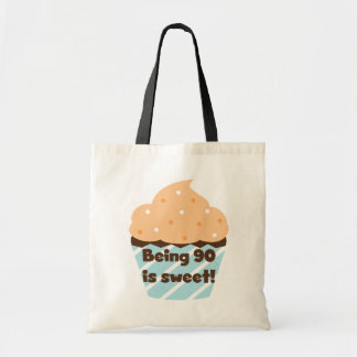 Being 90 is Sweet Birthday T-shirts and Gifts Budget Tote Bag