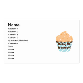 Being 95 is Sweet Birthday T-shirts and Gifts Double-Sided Standard Business Cards (Pack Of 100)