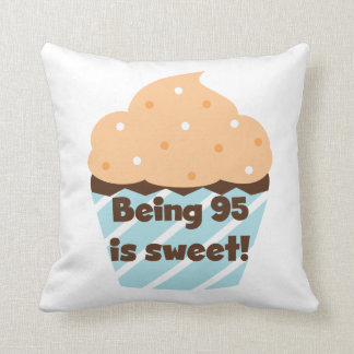 Being 95 is Sweet Birthday T-shirts and Gifts Pillow