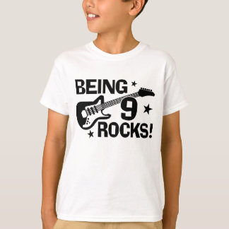 Being 9 Rocks T-Shirt
