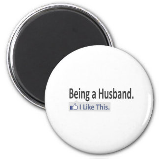 Being a Husband...I Like This 6 Cm Round Magnet