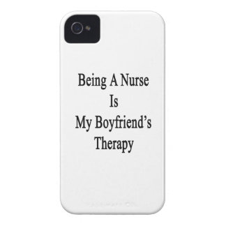 Being A Nurse Is My Boyfriend's Therapy iPhone 4 Cases