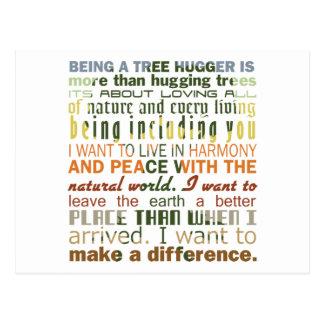 Being a Tree Hugger Postcard
