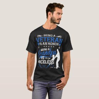 Being A Veteran Is An Honor Being A Grandpa Is Pri T-Shirt