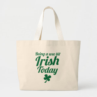 Being a wee bit Irish today St Patricks day design Jumbo Tote Bag