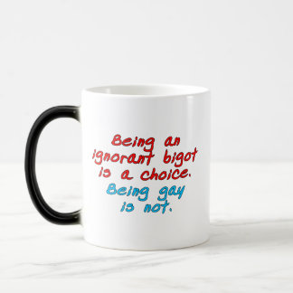 Being an ignorant bigot is a choice, being gay... magic mug