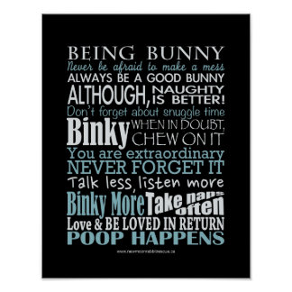 """""""Being Bunny"""" Posters/prints"""
