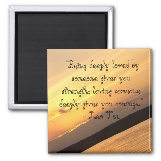 """""""Being deeply loved...: Square Magnet"""