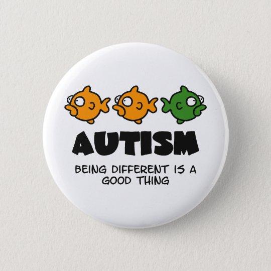 Being Different - autism design 6 Cm Round