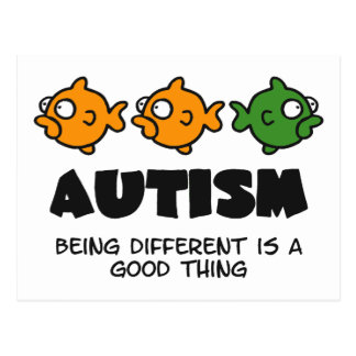 Being Different - autism design Postcard
