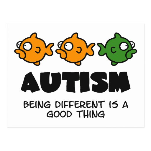 Being Different - autism design Post Cards
