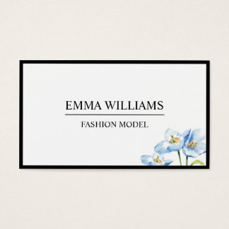 Being elegant, the flower of simple water color business card