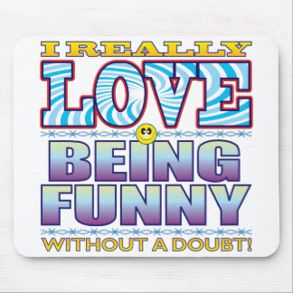 Being Funny Love Face Mouse Pad