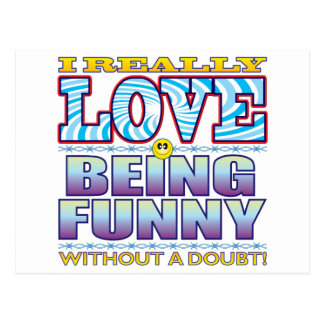 Being Funny Love Face Postcard