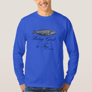 """""""Being Good is Free"""" (WHALE) - DENIM BLUE T-Shirt"""