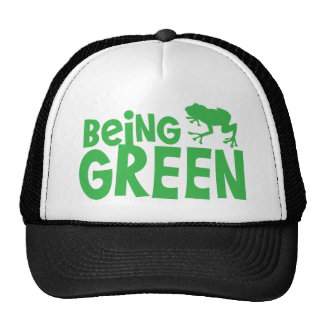 BEING GREEN with cute little frog Hats