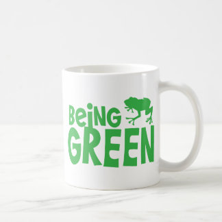 BEING GREEN with cute little frog Coffee Mug