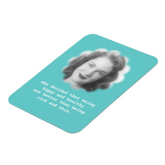 Being Happy and Healthy, Fun Vintage Photo Rectangular Photo Magnet
