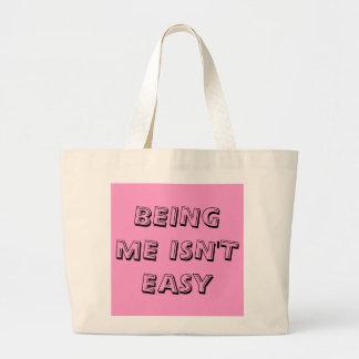 BEING ME ISN'T EASY JUMBO TOTE BAG