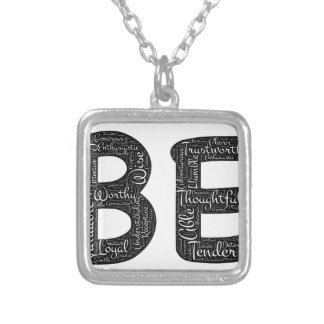 being motivational silver plated necklace