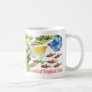 Being small, the lovely small-sized tropical fish coffee mug