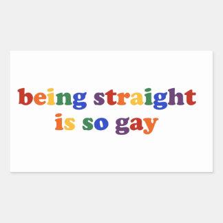 Being Straight... Rectangular Sticker