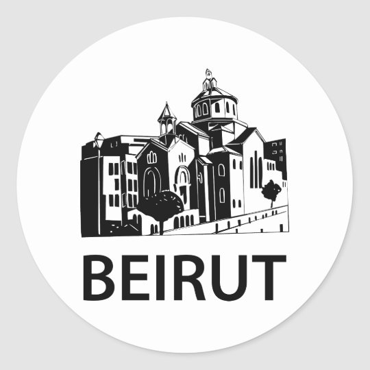 Beirut Classic Round Sticker