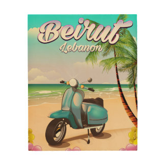 Beirut Lebanon Scooter travel poster