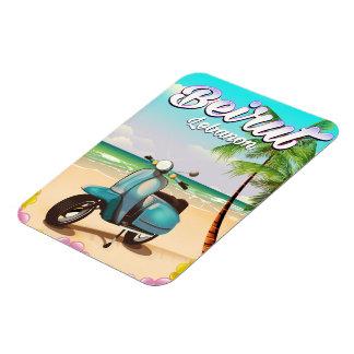 Beirut Lebanon Scooter travel print Magnet