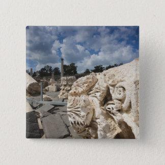 Beit She-An National Park, Roman-era ruins 15 Cm Square Badge